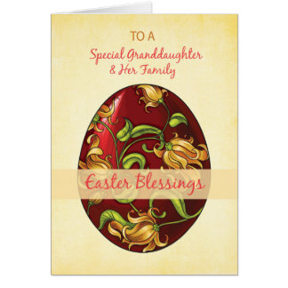 Granddaughter easter gifts on zazzle granddaughter amp her family easter blessings negle Gallery