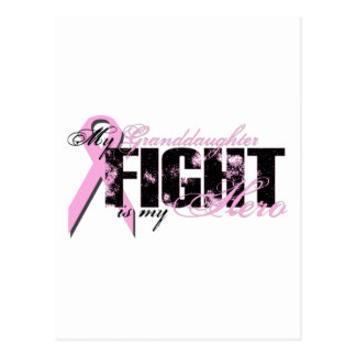 Granddaughter Hero - Fight Breast Cancer Postcard