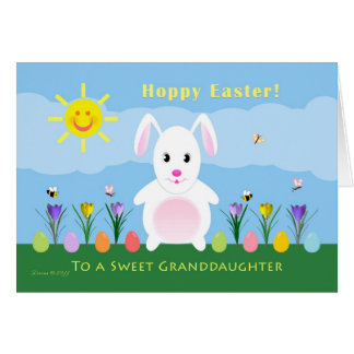 Granddaughter Hoppy Easter - Easter Bunny Card