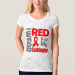 Granddaughter - I Wear Red Ribbon T-shirt
