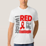 Granddaughter - I Wear Red Ribbon Tee Shirt