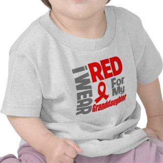 Granddaughter - I Wear Red Ribbon Shirt