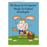 Granddaughter Jelly Bean Humor Easter Card