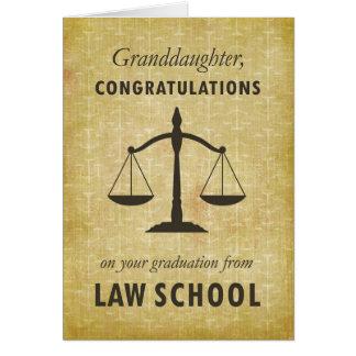 Granddaughter, Law School Graduation Congratulatio Card