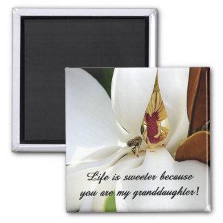 Granddaughter Love 2 Inch Square Magnet