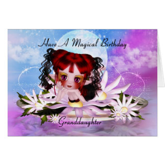 Granddaughter Magical Fairy Birthday Greeting Card