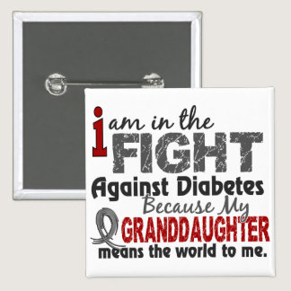 Granddaughter Means World To Me Diabetes Button