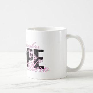 Granddaughter My Hero - Breast Cancer Hope Coffee Mugs