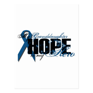 Granddaughter My Hero - Colon Cancer Hope Postcard