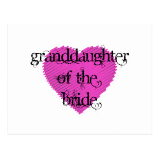 Granddaughter of the Bride Postcard