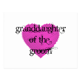 Granddaughter of the Groom Postcard