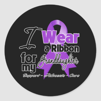 Granddaughter - Pancreatic Cancer Ribbon Classic Round Sticker
