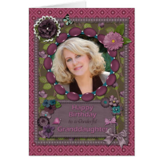 Granddaughter, Photo card for a birthday