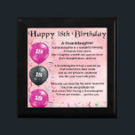 """Granddaughter Poem - 18th Birthday Jewelry Box<br><div class=""""desc"""">A great gift for a special granddaughter on her 18th Birthday</div>"""