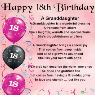 Granddaughters 18th Birthday Gifts On Zazzle