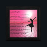 "Granddaughter Poem - ballerina Jewelry Box<br><div class=""desc"">A great gift for a special granddaughter</div>"