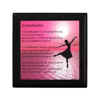 Granddaughter Poem - ballerina Jewelry Box