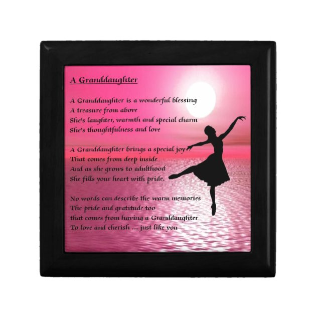 sc 1 st  Zazzle & Granddaughter Poem - ballerina Jewelry Box | Zazzle.com Aboutintivar.Com