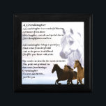"Granddaughter Poem - Horses Design Keepsake Box<br><div class=""desc"">A great gift for a special granddaughter</div>"