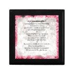 Granddaughter Poem - Pink Floral Design Gift Boxes