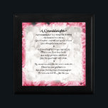 "Granddaughter Poem - Pink Floral Design Jewelry Box<br><div class=""desc"">A great gift for a special granddaughter poem.</div>"