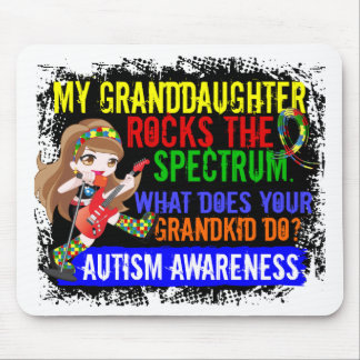 Granddaughter Rocks The Spectrum Autism Mouse Pad
