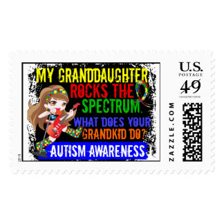 Granddaughter Rocks The Spectrum Autism Postage Stamp