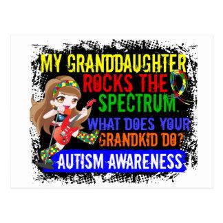 Granddaughter Rocks The Spectrum Autism Postcard