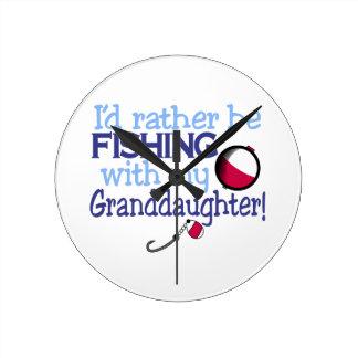 Granddaughter Round Clock