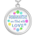 Granddaughter Round Pendant Necklace