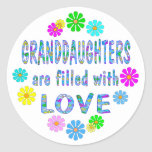 Granddaughter Round Stickers