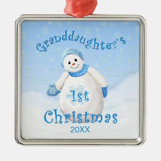 Granddaughter s 1st Christmas Snowman Ornament