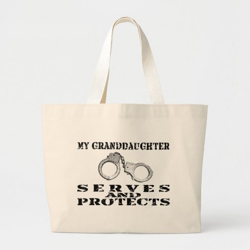 Granddaughter Serves Protects - Hat Tote Bags