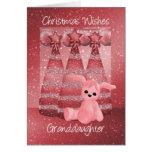 Granddaughter Sparkle Christmas Greeting Card Dusk