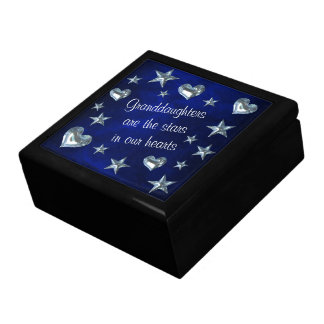 Granddaughter Star and Heart Keepsake Box