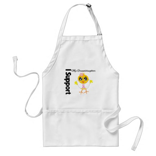 Granddaughter Support Breast Cancer Adult Apron