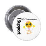 Granddaughter Support Breast Cancer Buttons