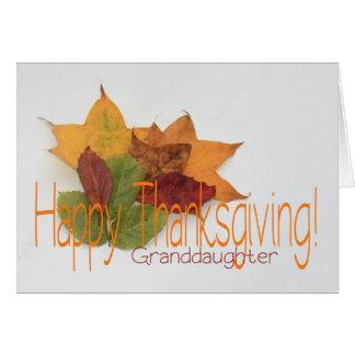 Granddaughter  thanksgiving foliage greeting card