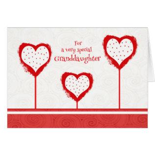 Granddaughter Valentine's Day Card at Zazzle