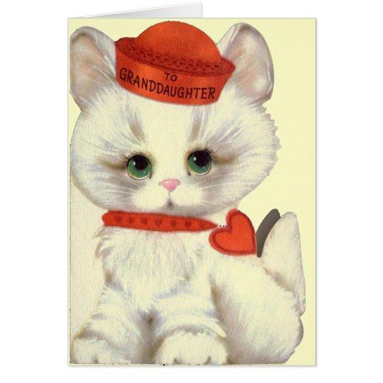 Granddaughter Valentine's Greeting Card