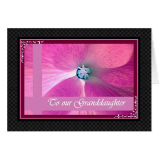 GRANDDAUGHTER Wedding Congratulations Greeting Card