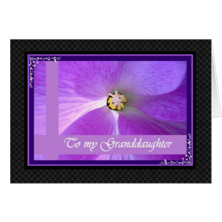 GRANDDAUGHTER - Wedding Congratulations Greeting Card