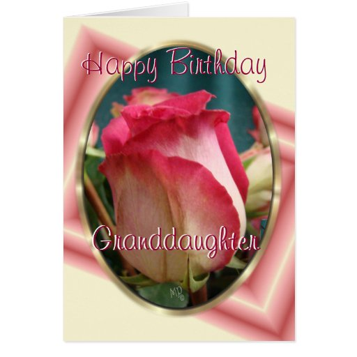 GranddaughterBday-personalizar cualquier ocasión Tarjeta