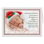 Granddaughter's 1st Christmas   Custom Name Greeting Card