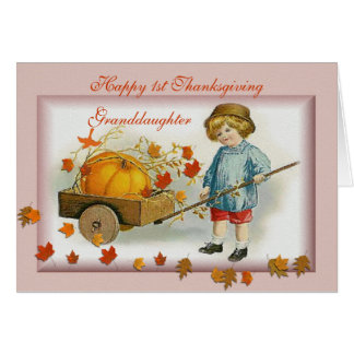 Granddaughter's 1st Thanksgiving Cards