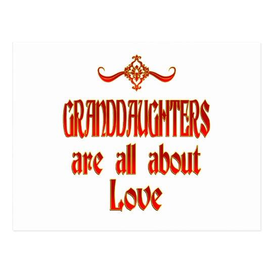Granddaughters are Love Postcard