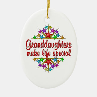 Granddaughters are Special Ceramic Ornament