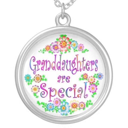 GRANDDAUGHTERS are Special Round Pendant Necklace
