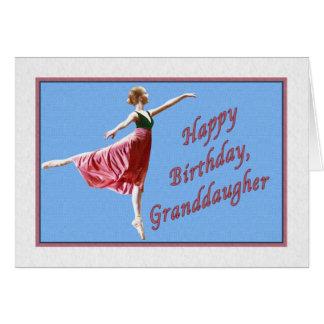 Granddaughter's Birthday Card with Ballerina