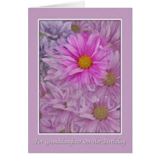 Granddaughter's Birthday Greeting  with Daisies Card